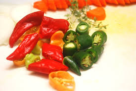 Natural & Organic Ingredients fresh chillies, jalapenos or mexican peppers.