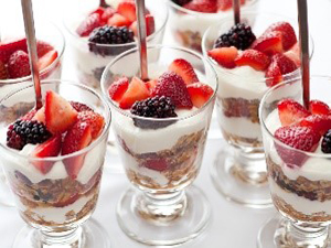 Yogurt Parfait with berries and granola300X225